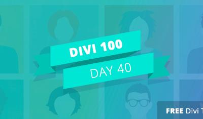 Divi 100 Giorno 40 – 5 modi per essere creativi con il modulo Persona di Divi